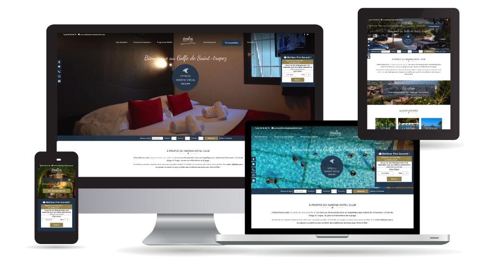 Marina Hôtel Club – Site Internet sur-mesure