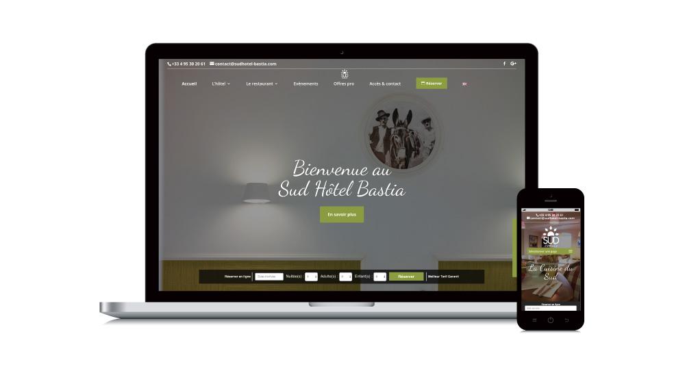 Sud Hotel Bastia – Site Internet sur-mesure