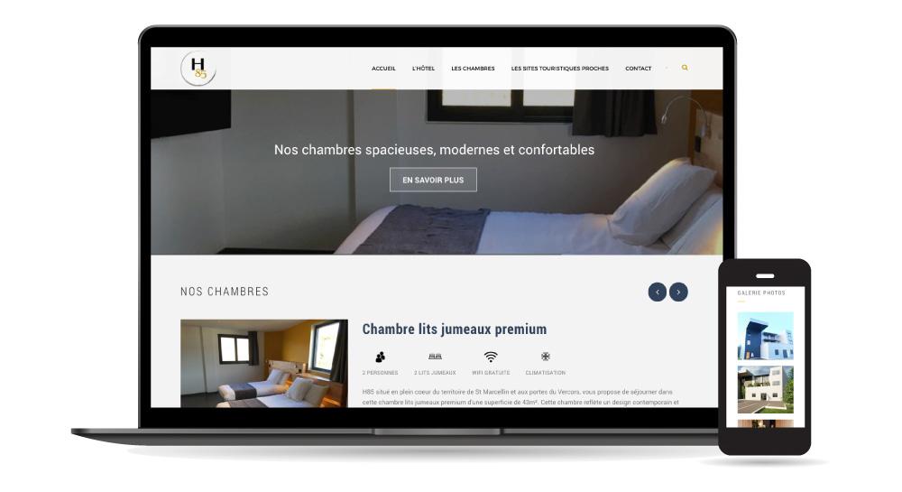 site thème graphique hôtel wordpress