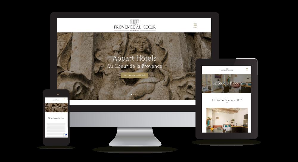 Provence Au coeur - Appart'Hôtels - site vitrine sur mesure